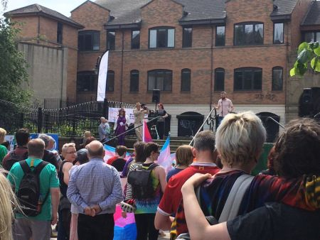 Transgender Pride Northern Ireland Crowd